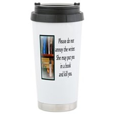 Cute Writer Stainless Steel Travel Mug