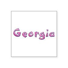 Georgia Pink Giraffe Square Sticker