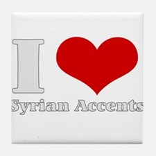 I Love (Heart) syrian accents Tile Coaster