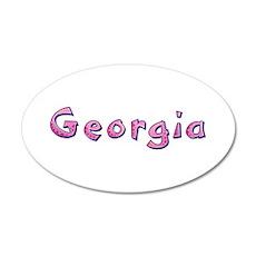 Georgia Pink Giraffe Wall Decal