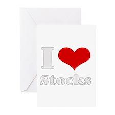 i love (heart) stocks Greeting Cards (Pk of 10