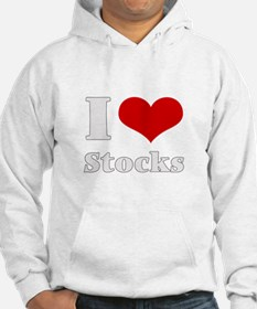 i love (heart) stocks Hoodie