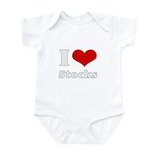 i love (heart) stocks Infant Bodysuit