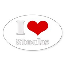 i love (heart) stocks Oval Decal