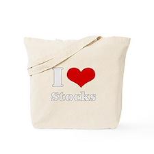 i love (heart) stocks Tote Bag