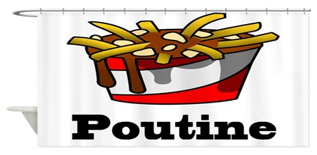 Poutine Shower Curtains Poutine Fabric Shower Curtain Liner