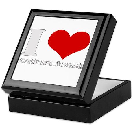 i love (heart) southern accen Keepsake Box