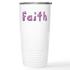 Faith Pink Giraffe Travel Coffee Mug