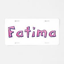Fatima Pink Giraffe Aluminum License Plate