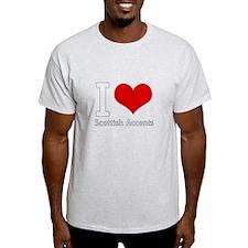i love heart scottish accents T-Shirt