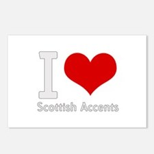 i love heart scottish accents Postcards (Package o