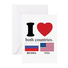 RUSSIA-USA Greeting Cards (Pk of 20)