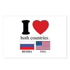RUSSIA-USA Postcards (Package of 8)