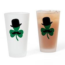 Stache Derby Clover Drinking Glass