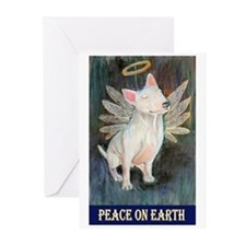 Bull Terrier Angel Greeting Cards