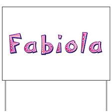 Fabiola Pink Giraffe Yard Sign