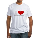 i love heart Portuguese accen Fitted T-Shirt