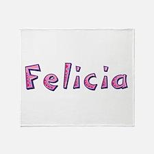 Felicia Pink Giraffe Throw Blanket