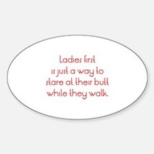 Ladies First Sticker (Oval)