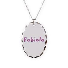 Fabiola Pink Giraffe Oval Necklace