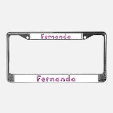 Fernanda Pink Giraffe License Plate Frame
