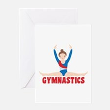 GYMNASTICS Greeting Cards