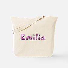 Emilia Pink Giraffe Tote Bag