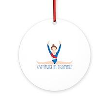 Gymnastics Training Ornament (Round)