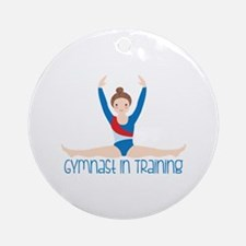 Gymnastics Training Ornament (Round)