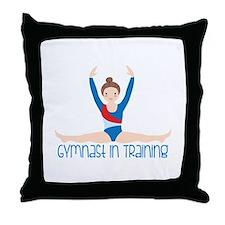Gymnastics Training Throw Pillow
