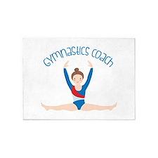 Gymnastics Coach 5'x7'Area Rug