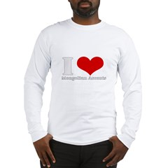 i love heart mongolian accent Long Sleeve T-Shirt