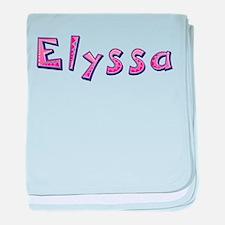 Elyssa Pink Giraffe baby blanket
