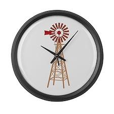 Windmill Large Wall Clock