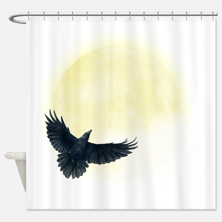 Raven Moon Shower Curtain