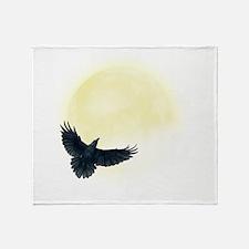 Raven Moon Throw Blanket