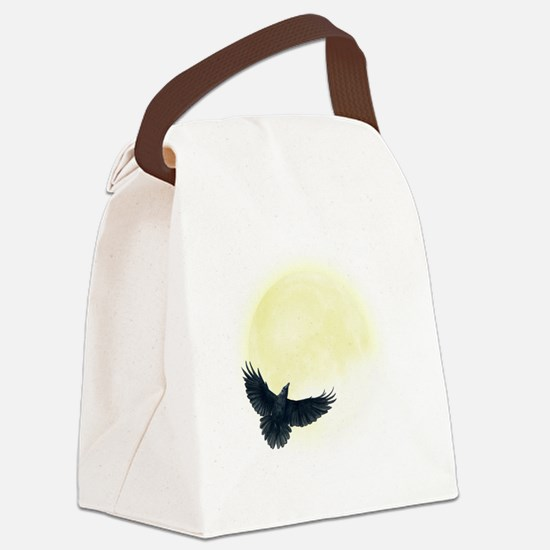 Raven Moon Canvas Lunch Bag