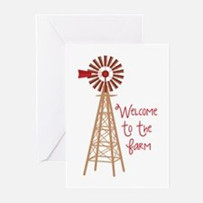 Welcome To The Farm Greeting Cards