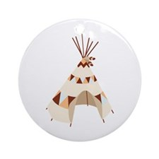 Teepee Tent Ornament (Round)