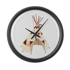 Teepee Tent Large Wall Clock