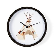 Teepee Tent Wall Clock