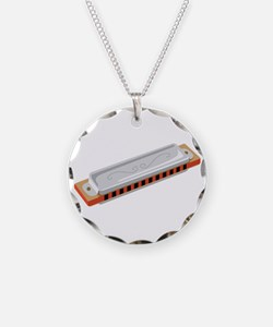 Harmonica Musical Instrument Necklace