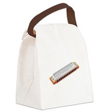 Harmonica Musical Instrument Canvas Lunch Bag