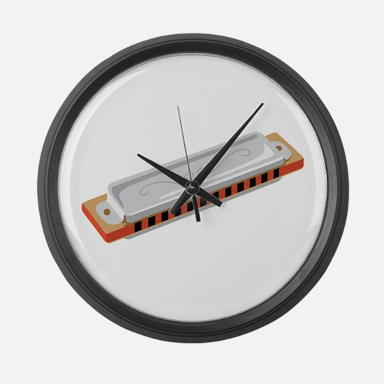 Harmonica Musical Instrument Large Wall Clock