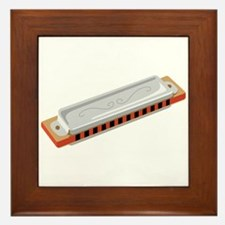 Harmonica Musical Instrument Framed Tile