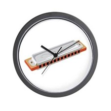 Harmonica Musical Instrument Wall Clock