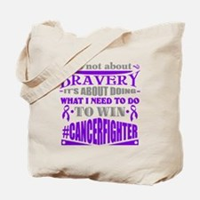 Not About Bravery Tote Bag
