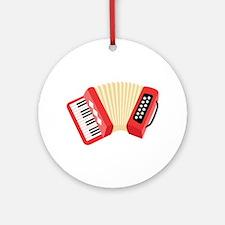 Accordion Musical Instrument Ornament (Round)