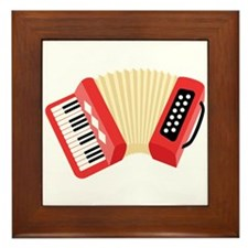 Accordion Musical Instrument Framed Tile