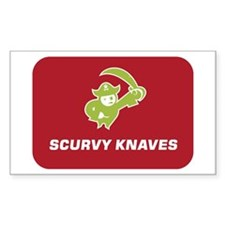 Pirates - Scurvy Knaves Rectangle Decal